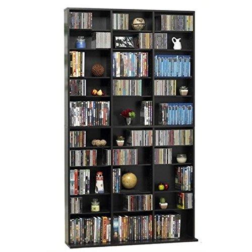 Bowery Hill 72'' Triple Slim Multimedia Storage Rack in Espresso