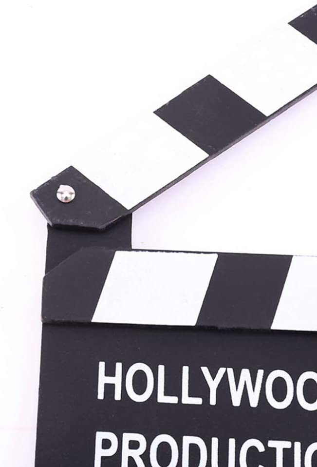 NUOBESTY 3PCS Director Action Scene Board Wooden Film Clapper Directors Clapboard Slate Clapper Pretend Toy for Kids Photo Props Playing