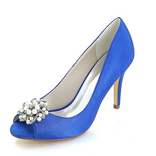 amp; YC Blue Heels Women'S Fine L Evening Party Professional Splendid Office High Heel Wedding 640qxqdw