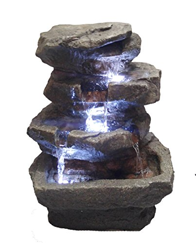 Major-Q Decoration Feng shui Rock Like Waterfall Fountain with LED Light (82311-14