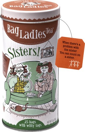 Bag Ladies Tea Sisters Tea Tin, 25 teabags of English Breakfast tea