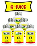 Nat-rul Health B-6 100mg 100 Tablets (6 PACK)