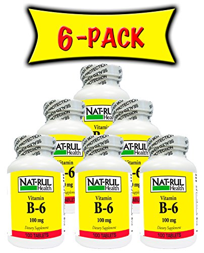 Nat-rul Health B-6 100mg 100 Tablets (6 PACK) by Nat-Rul Health