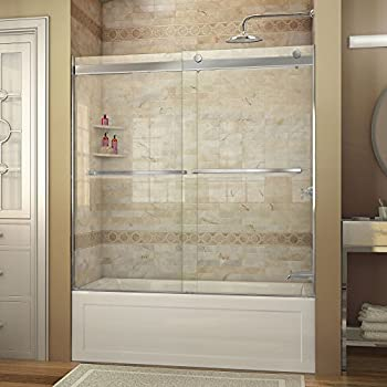 DreamLine Visions 5660 in Width Frameless Sliding Tub Door 14