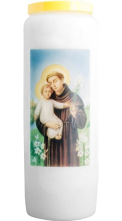 br/ûle 9 Jours Christ-en-or Lot de 2 Bougies Neuvaines Sacr/é-Coeur de J/ésus 100/% v/ég/étale