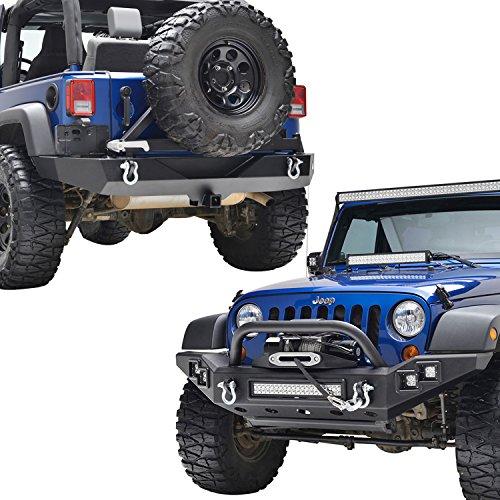 ll Width Bumper Combo - Front + Rear Bumper W/Tire Carrier ()