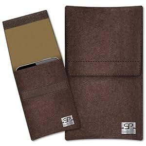 SIMON PIKE Cáscara Funda de móvil Sidney 15 marrón Samsung B3410 Fieltro de lana