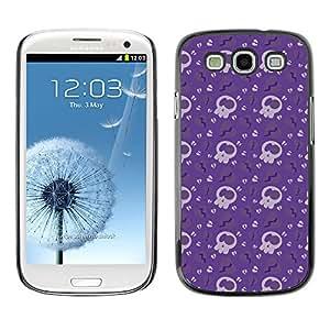 iKiki-Tech Estuche rígido para Samsung Galaxy S3 - Violet Skull
