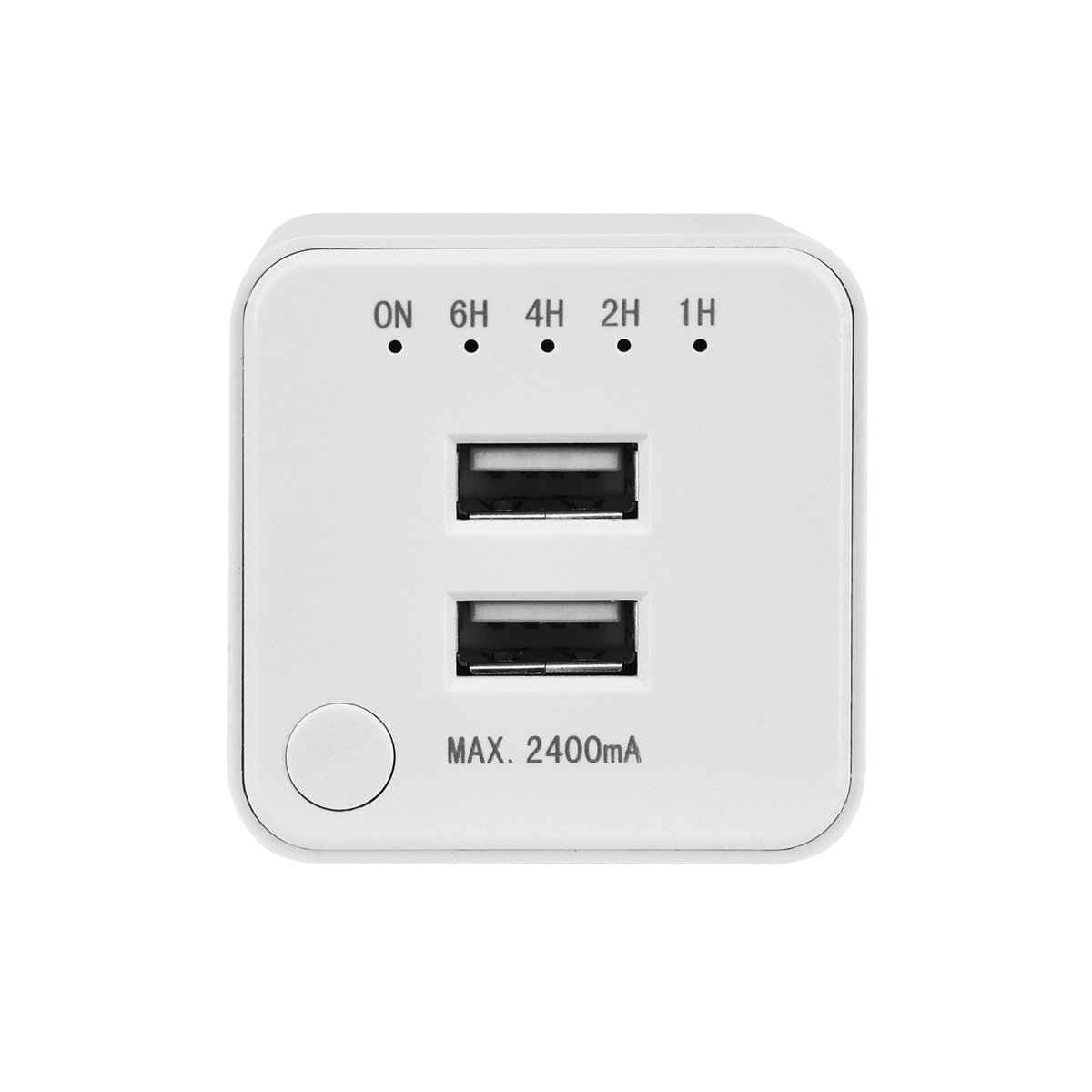 Link2Home EM-1605 Dual Usb Port Wall Charger with Timer, White