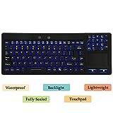 Eggsnow Industrial Waterproof Keyboard with Touchpad for Windows PCs - 106 Keys
