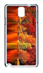 cute covers red autumn forest PC White case/cover for Samsung Galaxy Note 3 N9000