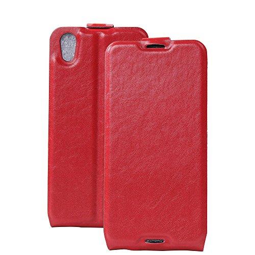 Manyip Funda Alcatel One Touch iDol 4,Caja del teléfono del cuero,Protector de Pantalla de Slim Case Estilo Billetera con Ranuras para Tarjetas, Soporte Plegable, Cierre Magnético(JFC4-4) D