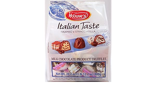 Amazon.com : Witors Italian Taste Tiramisu E Stracciatella Milk Chocolate Turffles 28.2 Ounce Bag by Wintors : Grocery & Gourmet Food