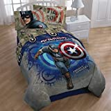 Captain America Marvel Comics Twin Bedding Comforter