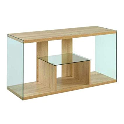Amazoncom Bs Tv Rack Stand Glass And Wood Tv Stand 50 Inch