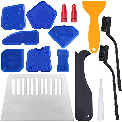 (24 Pieces Caulking Tools,YuCool Sealant Finishing Tool for Smoothing Sealing Lines,Caulking Lines-Blue)