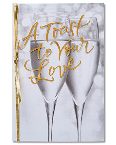 American Greetings A Toast Anniversary Card for Couple with Ribbon