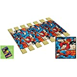 "Custom Made in the U.S.A.! Youth/Toddler Size Superman Fleece Comic Book Hero Themed Bed Slats Bunky Boards - Cut to the Width of Your Choice (30"" Wide) - FREE box of Crayons with Purchase"