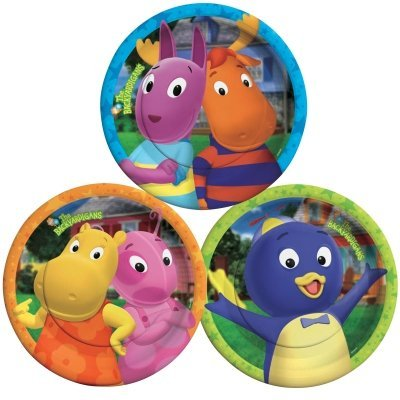 Backyardigans Dessert Plates Assorted by Official Costumes (The Backyardigans Games Halloween)