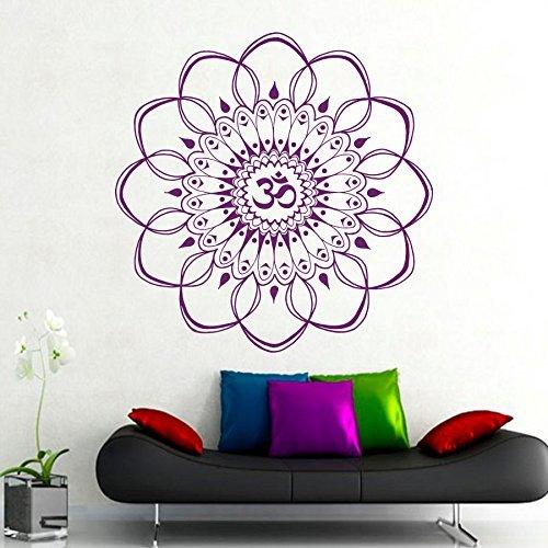 Unbekannt Grande Pared Adhesivo Ornament Mandala Indio, marroquí, diseño geométrico de Yoga Namaste Flores, Vinilo Adhesivo Pared, Dormitorio ...