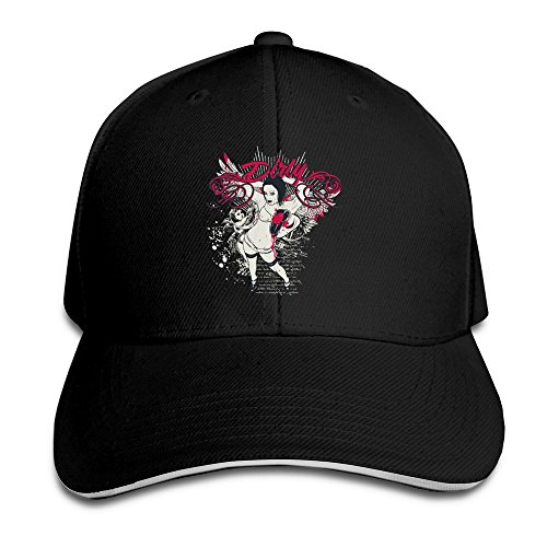 Runy Custom Sexy Lady Adjustable Hunting Peak Hat & Cap Black