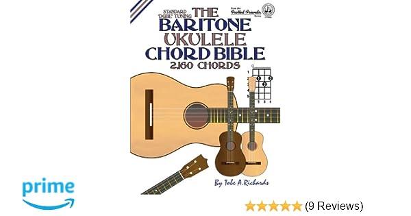 Amazon The Baritone Ukulele Chord Bible Dgbe Standard Tuning