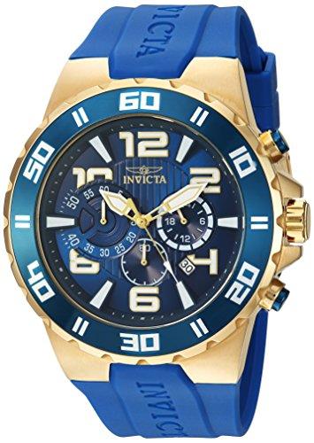 Invicta Men's Pro Diver Stainless Steel Quartz Watch with Polyurethane Strap, Blue, 28 (Model: 24670)