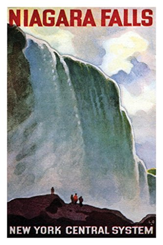 - Niagara Falls New York Central System Vintage Travel Art Print Poster 24x36 inch