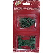 Green Ornament Hooks, Twin Pack of 100