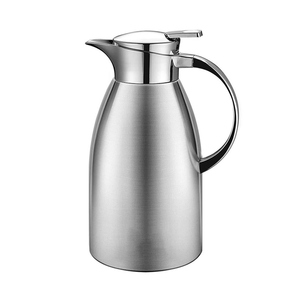 LRXG Thermoskannen, 304 Edelstahl 2L Doppelwandige Vakuumisolierte Kaffeekanne Kaffee Plunger Juice Isolation Reisebecher B3