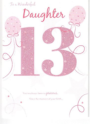 For A Beautiful Daughter Happy 13th Birthday Card
