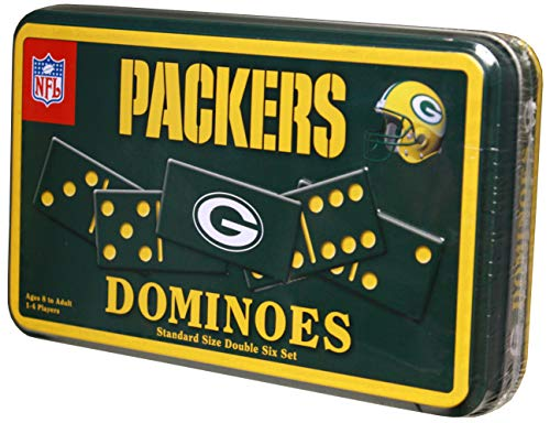 Green Bay Packers Mens Football Dominoes Double 6 Game Gifts Set (Dominos Gift)