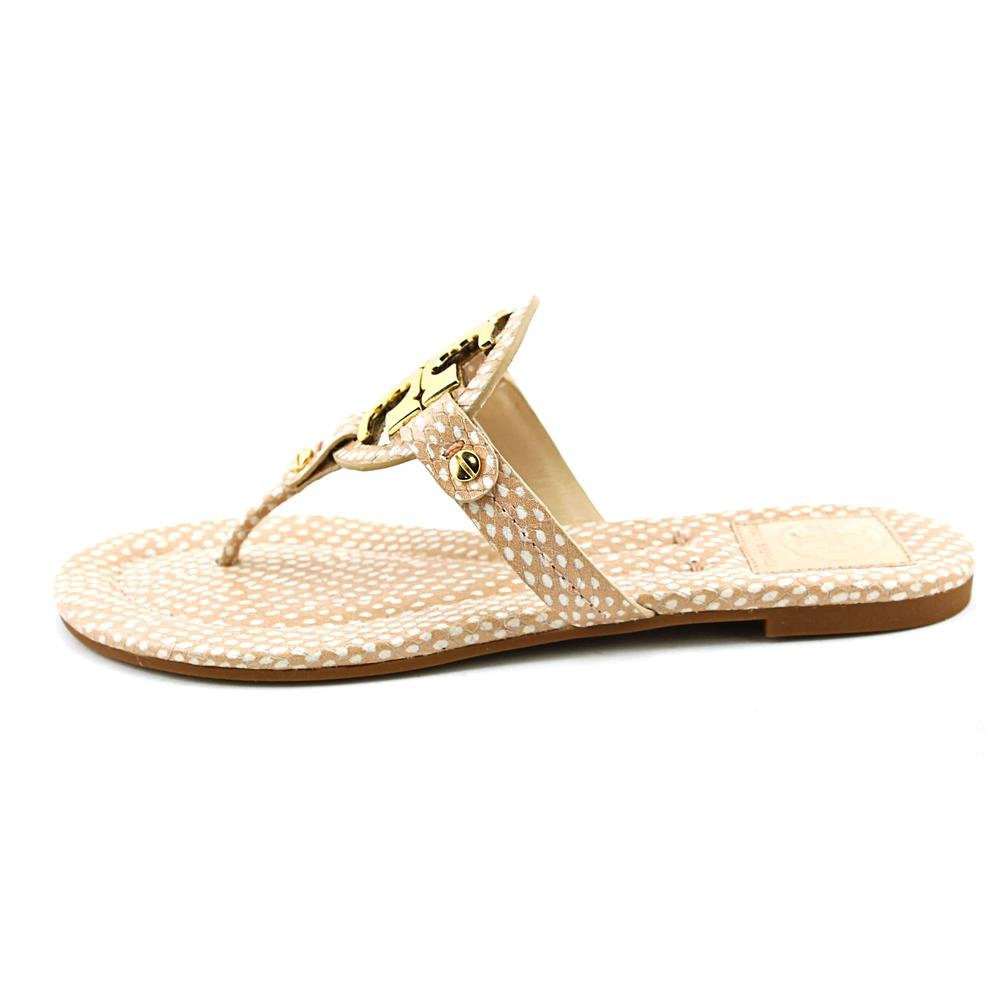 4cfb47fe9 Tory Burch Miller 2 Womens Nude Thongs Sandals Shoes Size New Display UK 4   Amazon.co.uk  Shoes   Bags