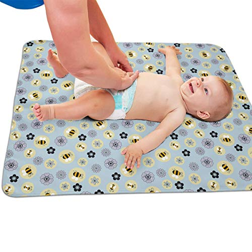 V5DGFJH.B Baby Portable Diaper Changing Pad Bumblebee Urinary Pad Baby Changing Mat 31.5