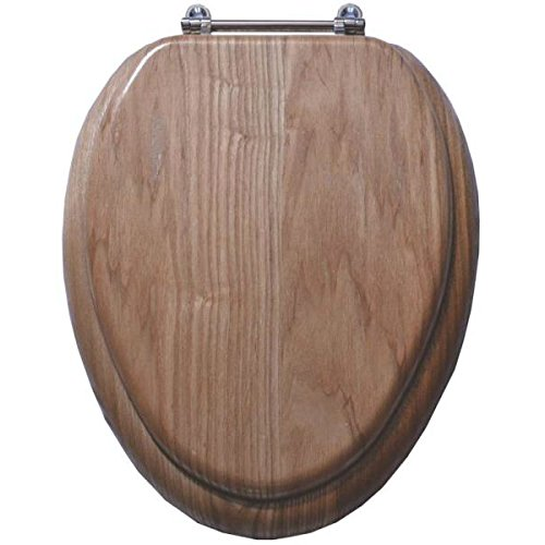 Toilet Seat Natl Oak Fnsh 19in