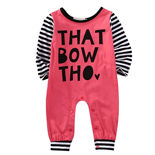 Baby Girl Long Sleeve Romper Newborn Kids Cotton Casual Bodysuit Jumpsuit Clothes -Glosun (6-9 Months)