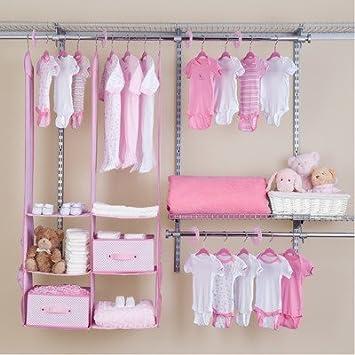 Beau Delta Children 24 Piece Nursery Closet Organizer, Pink