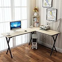 Soges L-Shaped Desk Computer Desk with Mainframe Multifunctional Computer Table Workstation,ZJ1-TCA