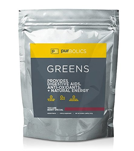 Purbolics Greens Superfood Powder, All Natural, Sweetened with Stevia, and No Artificial Sweeteners, Provides Anti-Oxidants & Natural Energy, Keto Friendly (27 Servings, You Are Berry Special)