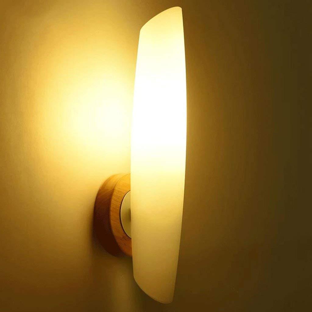 Wandleuchten aus massivem Holz LED Wandleuchte, einfache und moderne Wohnzimmer Wand Lampen Studie Schlafzimmer Nachttischlampe dekorative Wandleuchten
