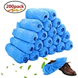 Disposable Boot & Shoe Covers 200 Pack (100 Pairs) | Non-Slip, Durable, Indoor | Protect Your Home, Floors and Shoes fit up to US Men's 11.5 and US Women's 12.5