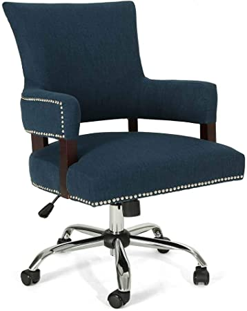 Amazon Com Christopher Knight Home Bonaparte Traditional Home Office Chair By Navy Blue Home Kitchen