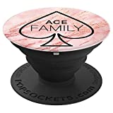 Ace Family Pink and Red Marble - PopSockets Grip and Stand for Phones and Tablets