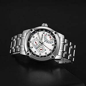 Time100 Fashion Multifunction Chronograph Steel Strap Business Mens Quartz Watch #W70108G.01A