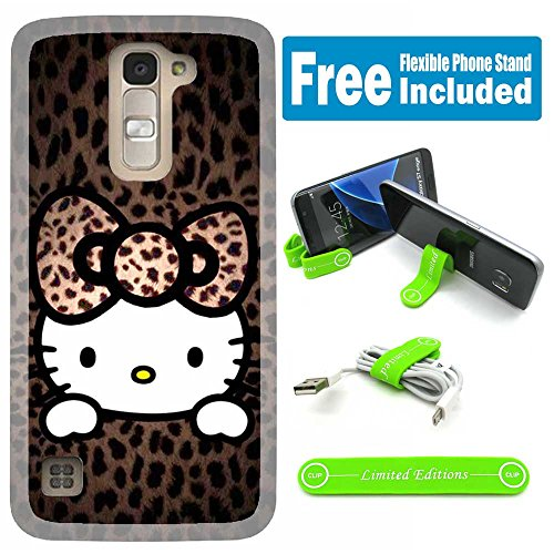 [Ashely Cases] ZTE Zmax Pro Cover Case Skin with Flexible Phone Stand - Hello Kitty Hopi Pink (Hello Kitty Phone Case For A Zte)