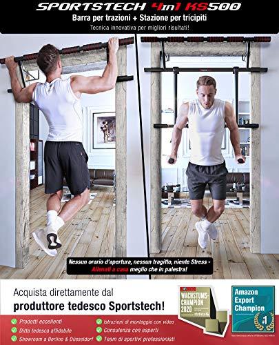 Sportstech Occasione Unica! Barra trazioni 4in1 Inclusive Dip Bar & Power Ropes, Sbarra per Porta Pieghevole KS500… 2 spesavip