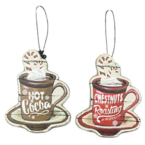 Youngs Hot Cocoa Cup Ornament 2 Assortment