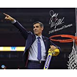 Steiner Sports Jay Wright Signed Cutting the Net after the 2016 National Championship Game 8x10 Photo w/ ''2016 National Champs'' Insc