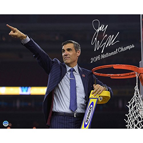 Steiner Sports Jay Wright Signed Cutting the Net after the 2016 National Championship Game 8x10 Photo w/