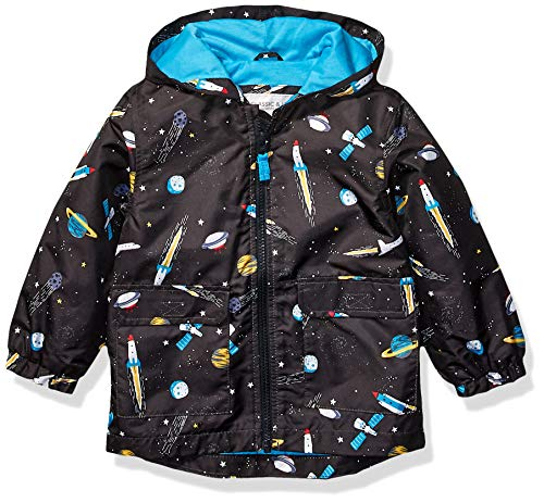 Carter's Baby Boys Favorite Rainslicker Rain Jacket, Space Ship Black, 18 Months (Rain Coats For Baby Boy)